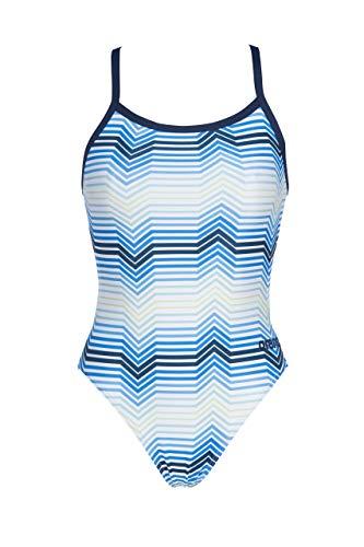 ARENA  W Multicolor a Rayas Challenge Back, Disfraz de Mujer, Mujer, 002828, BLU (Navy/Multi), 38
