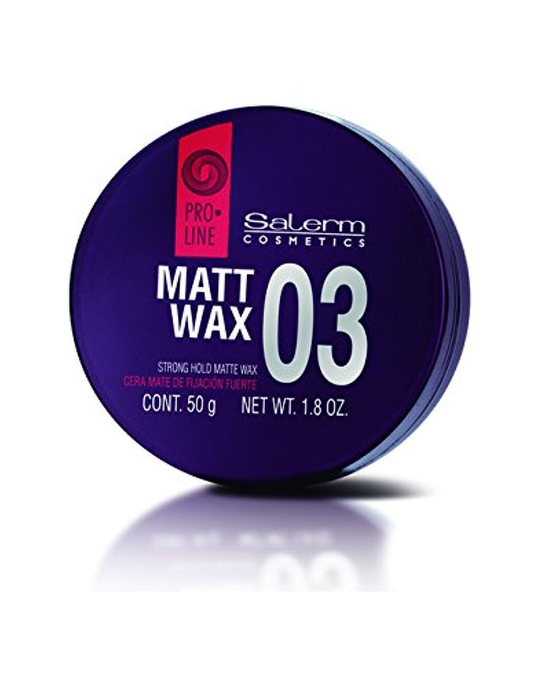 くるくる賞賛するカストディアンSalerm 化粧品03マットワックスストロングホールド-size 1.8オンス