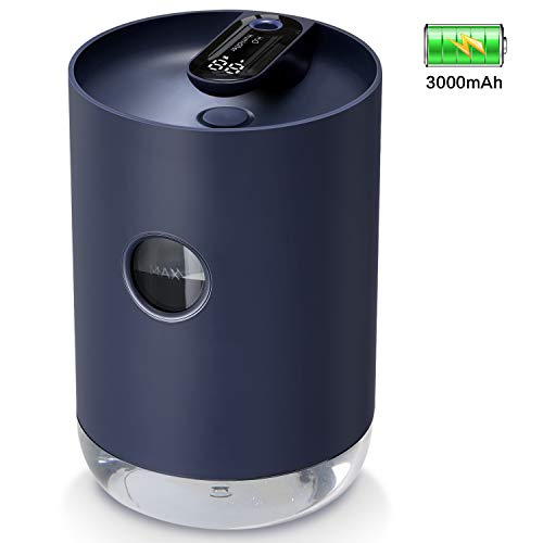 SmartDevil Humidificador 1000 ml, humidificador Recargable portátil con batería de 3000 mAh, Funciones de luz Nocturna, Apagado automático para Dormitorio, Oficina, hogar, Aceite Esencial Prohibido