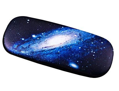 Sternenklarer Himmel Muster Brillenetui Hartschalen-Brillenetui Lederschutzhülle - 03