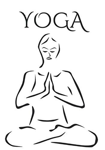 YOGA: Cuaderno para practicante de yoga. 100 páginas decoradas con líneas y marco de motivos vegetales para notas, mantras y dibujos.