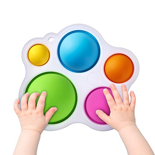 MUYSRC Simple Fidget Dimple Toy, Fidget Dimple Toy, Stress Relief Hand Toys for Kids, Easy to use, Soft Silicone Fidget Toy for Kids, Early Educational Fidget Toy, Baby Toy