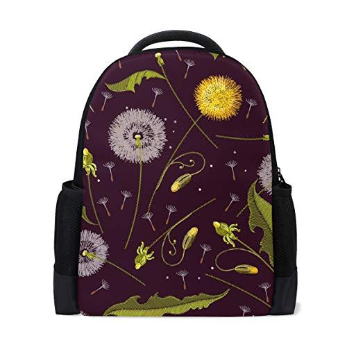 Ahomy Reise Laptop Rucksack Pusteblume Blume Tagesrucksack Büchertasche Schultasche für Mädchen Jungen Jugendliche