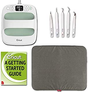 """Cricut Easy Press 2 Bundle – Heat Press Machine and Mat for T Shirts, Essential Weeder Tool Kit, Mint, 6"""" x 7"""""""