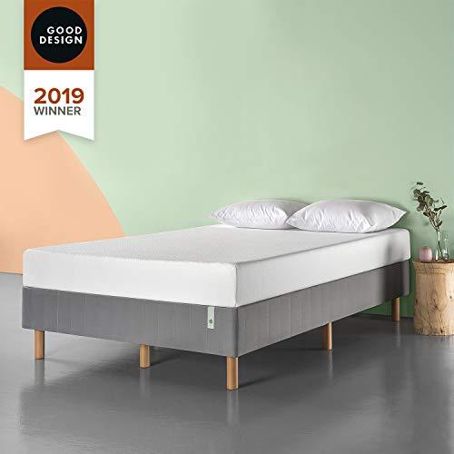 Zinus Justina Quick Snap Standing Mattress Foundation / Platform Bed / No Box Spring Needed / Grey, Twin