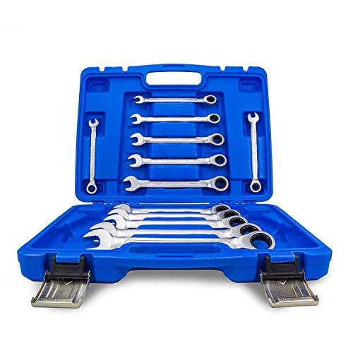 Ratschenschlüssel Ring Maul Ratsche Schlüssel Satz 8-19 mm Werkzeug Set 12 tlg