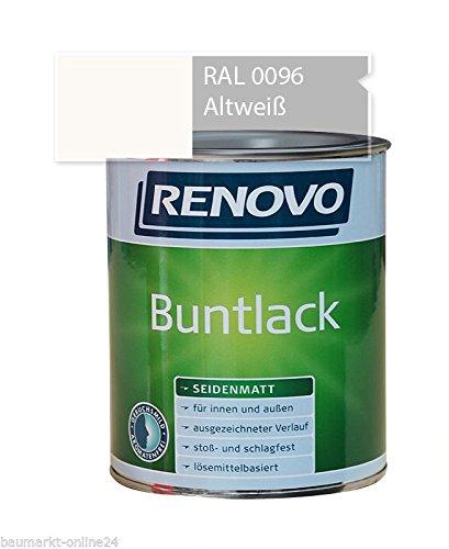 Buntlack 2,5 L RAL 0096 Altweiß Seidenmatt Renovo