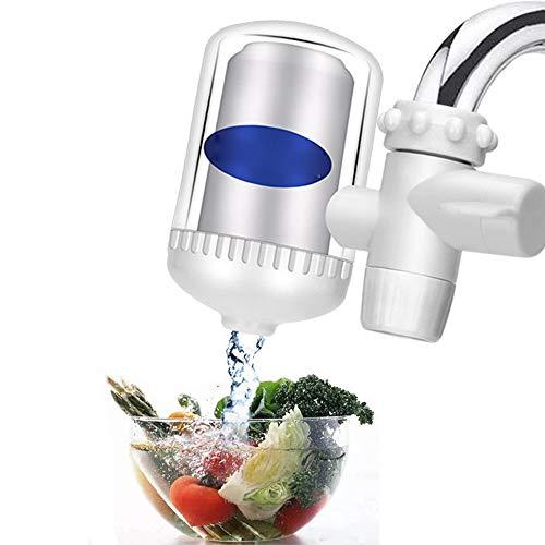 TIAS Wasseraufbereiter, Leitungswasserfilter-System, Wasserhahn-Montagefilter, BPA-frei, passend für Standard-Wasserhähne, transparent