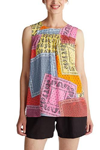 ESPRIT Damen 050EE1F351 Bluse, 648/CORAL 4, 44