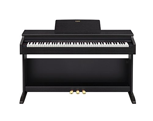 Casio PX-270BK - Piano digitale a 88 tasti, tastiera elettronica (18 W, 1417 mm, 432 mm, 821 mm, 36,6 kg, USB di tipo B, nero)