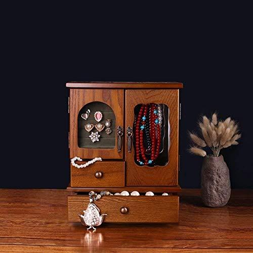 NYDZ Joyero Collar Mano de Almacenamiento joyería gabinete Chino Retro Wind Box Collection