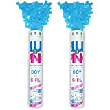 Jacks Trends Gender Reveal Confetti Poppers - Set of 2 Pink Or Blue,...