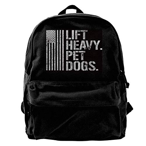 IUBBKI Lift Heavy Pet Dogs Gym for Weightlifters Backpack Casual Daypack