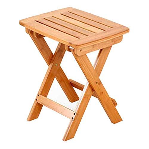 QIDI Tabourets Chaise Bambou Simple Moderne Pliable Facile à Porter Ménage Pêche en Plein Air Mazza - Lisse Au Toucher (Couleur : Couleur du Bois, Taille : Large)