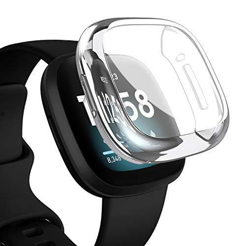 YoLin Protector de pantalla para Fitbit Versa 3, funda prote