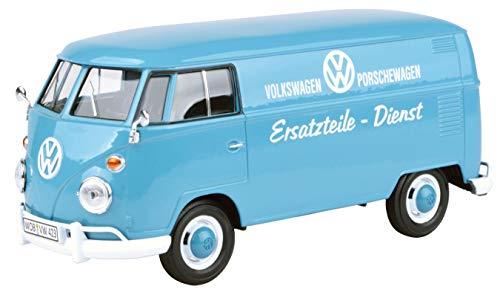 VW Volkswagen T1 Grau Blau Kasten Transporter Porsche Dienst Samba Bully Bus 1950-1967 1/24 Motormax Modell Auto