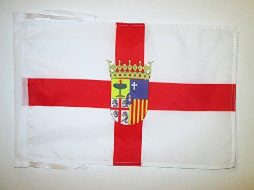 AZ FLAG Bandera de la Provincia DE Zaragoza 45x30cm - BANDERINA Zaragoza ENARAGÓN 30 x 45 cm cordeles