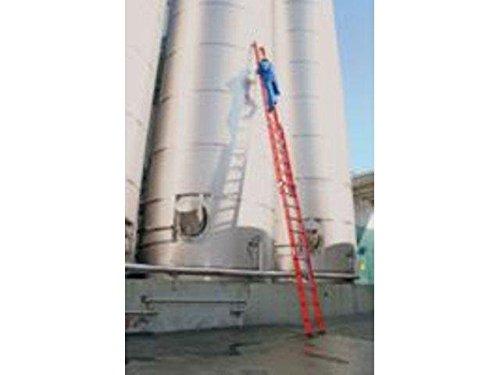 Vollkunststoff-Schiebe-Seilzugleiter,2-teilig, 2 x 12 Sprossen Arbeitshöhe bis ca. 7,40 m