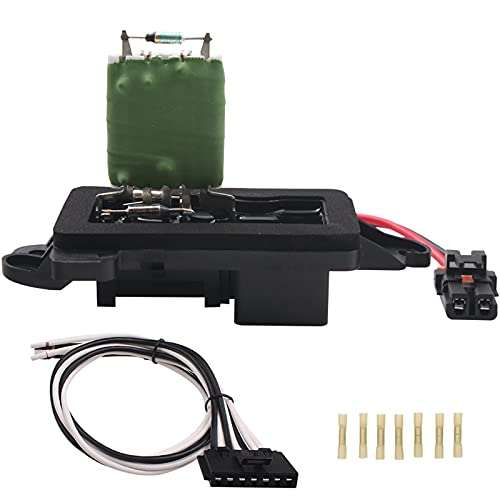 Heater Blower Motor Resistor - HVAC Blower Motor Resistor Fan Resistor Kit Compatible with Chevrolet GMC&Cadillac Silverado, Tahoe, Suburban, Avalanche, Sierra, Yukon89019088 973-405 15-81086 22807123