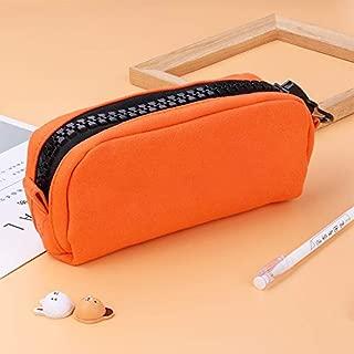 Yiherone Declamatory Capacity Zipper Multifunction Cunning School Pencil Cases Bags Pen Box Gift Office School Stationery Supplies(Black) New (Color : Orange)
