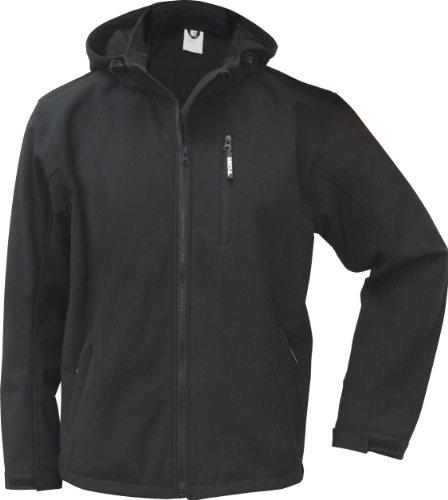 TRIUSO atmungsaktive Softshell Jacke Power in schwarz in Größe 4XL