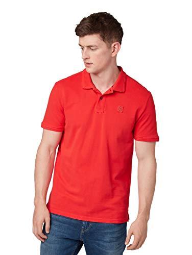 TOM TAILOR Herren 1009577 Poloshirt, Rot (Basic Red 13189), (Herstellergröße: XX-Large)