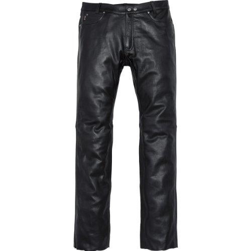 Spirit Motors Motorrad Jeans Motorradhose Motorradjeans Klassik Lederhose 2.0 schwarz 52, Herren, Chopper/Cruiser, Ganzjährig