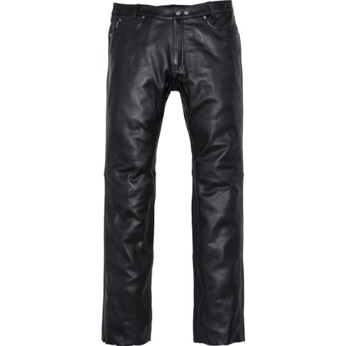 Spirit Motors Motorrad Jeans Motorradhose Motorradjeans Klassik Lederhose 2.0 schwarz 56, Herren, Chopper/Cruiser, Ganzjährig