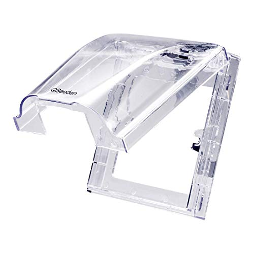 YeVhear - Caja de enchufe impermeable para interruptor de pared, PVC, transparente