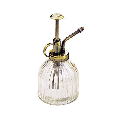 Owikar Flacon pulvérisateur en verre avec buse cuivrée transparent