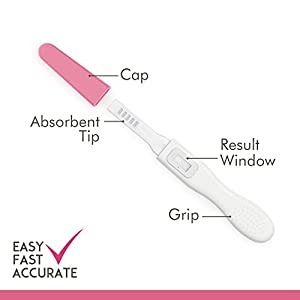 AccuMed Pregnancy Test, Pregnancy Test Kit Strips, Individually Wrapped, Clear & Easy HCG Test Results, 99% Accurate