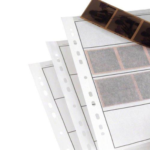 25 fogli di qualità, in carta cerata, per raccoglitori ad anelli, per pellicole 120 in formato medio, privi di acidi, ideali per la conservazione sicura - - -