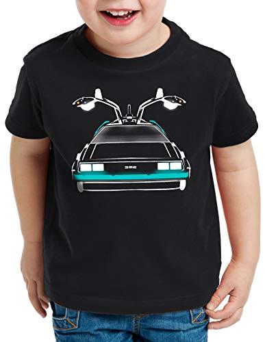 style3 Delorean Speed of Light T-Shirt für Kinder dmc-12 zeitreise mcfly Auto, Größe:128