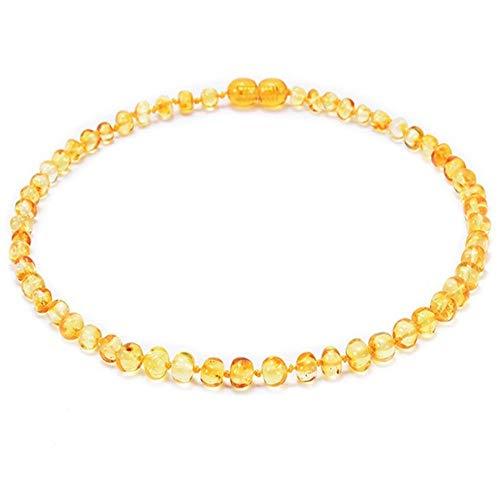 Fireflys Collar De Ámbar Natural Báltico Hecho A Mano Genuina Pulido Niños Pulidos Joyería Amber Beads
