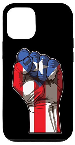 iPhone 12/12 Pro Puerto Rico Pride | Raised Fist Boricua Flag Case
