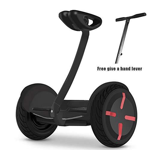 Feng tata Elektro-Scooter 36V Zwei Räder Selbst Balancing mit Wireless-Verbindungen Off-Road Elektro Hoverboard mit Handhebeln, Segway für Kinder und Erwachsene,Schwarz