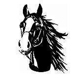 Finest Folia Adhesivo decorativo de cabeza de caballo, para coche, remolque, camión, caballo,...