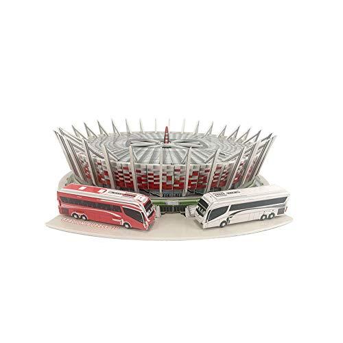 Estadio 3D Jigsaw Puzzle, Polonia Varsovia Estadio Nacional de Deportes Modelo Fans Souvenir DIY Puzzle Fans 'Gifts