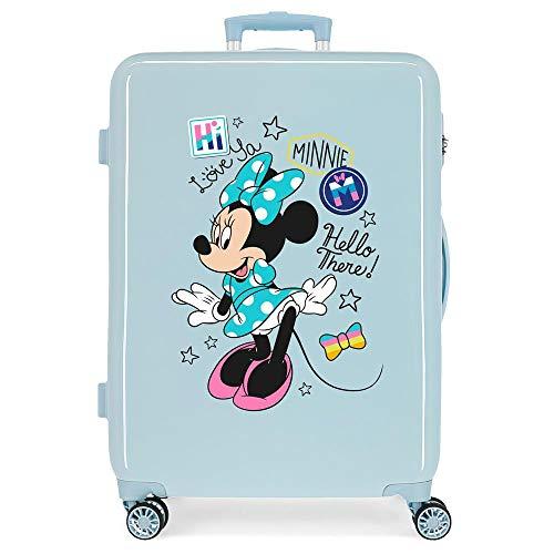 Disney Minnie Destiny awaits Maleta mediana Rosa 46x65x25 cms Rígida ABS Cierre de combinación lateral 34L 3,4 Kgs 4 ruedas dobles