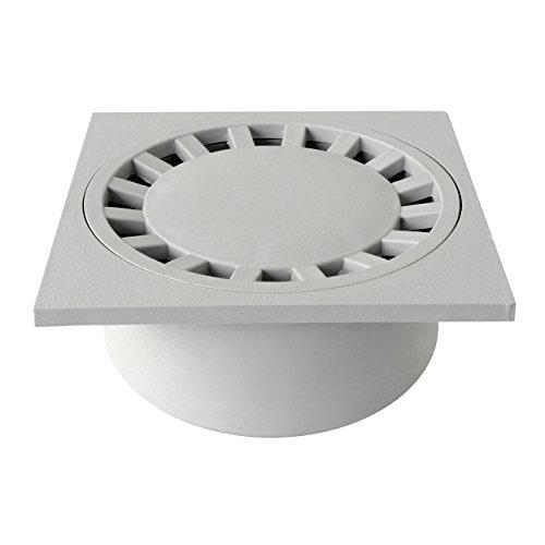 First Plast CHPP20G - Cierre sifón de polipropileno, gris, 200 x 200 mm
