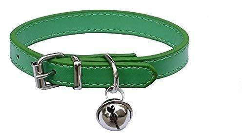 Moda Cuero Pet Collar Ajustable Para Gatos, Baby Cachorros Perros, 8'-10.5