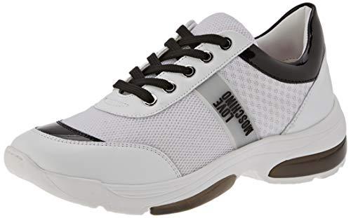 Love Moschino Scarpad.running50 Retemix+VIT+n.Lam, Chaussures de Gymnastique Femme, Blanc (White Calf 10a), 39 EU