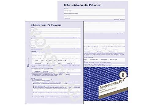 1 X AVERY Zweckform Mietvertrag A4 4seitig 50St 2849