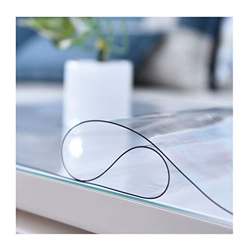 ZWYSL Mantel Transparente Mantel Rectangular De PVC Impermeable Y Anti-escaldaduras 1,5 Mm, 2 Mm Vidrio Blando Almohadilla De Goma Transparente Gabinete De TV (Color : 2mm, Size : 70X140cm)
