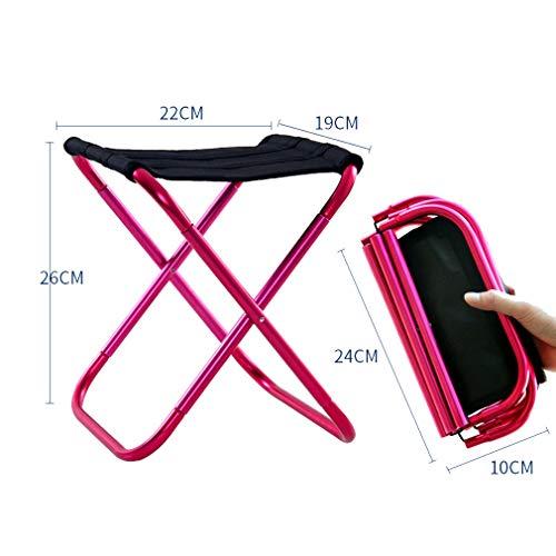 AGLZWY Chaises Pliantes Petit Tabouret de Stockage portatif extérieur en Tissu Oxford en métal Polyvalent, 3 Couleurs (Color : A, Size : 24.5X22X26.5CM)
