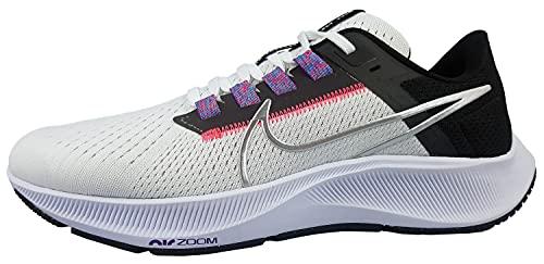 Nike Wmns Air Zoom Pegasus 38, Zapatillas para Correr Mujer, White Mtlc Silver Black Flash Crimson Anthracite Wild Berry, 40 EU