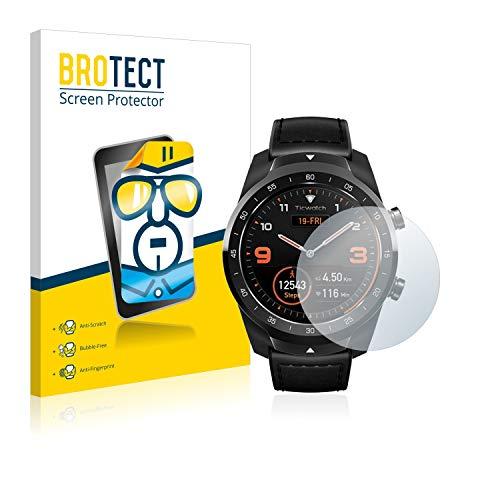 BROTECT Schutzfolie kompatibel mit Mobvoi Ticwatch Pro / C2 / E2 (2 Stück) klare Bildschirmschutz-Folie