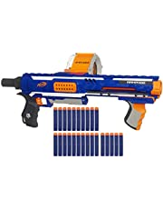 Nerf Rampage N-Strike Elite Toy Blaster with 25 Dart Drum Slam Fire and 25 Nerf Official Elite Foam Darts, for Kids Ages 8 and up