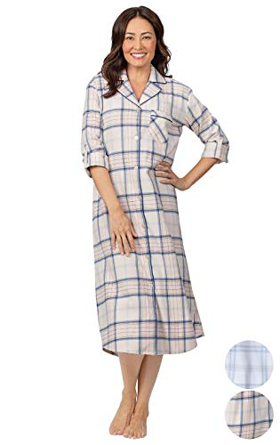 Addison Meadow Women's Flannel Nightgown - Womens Nightgowns, Pink, 2X, 20-22