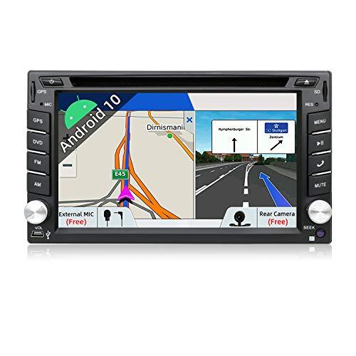 JOYX Android 10 Doppia Din Autoradio Universal Stereo Navigation | Gratuita Camera Microfono | 2G/32G | Supporto MirrorLink 4G WiFi DAB Bluetooth5.0 Volante Google Carplay Android Auto |6.2 Pollici